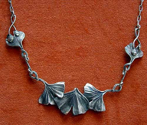 necklace with Ginkgo leaves