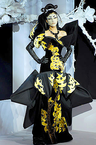 Christian Dior couture 2007 - ginkgo design