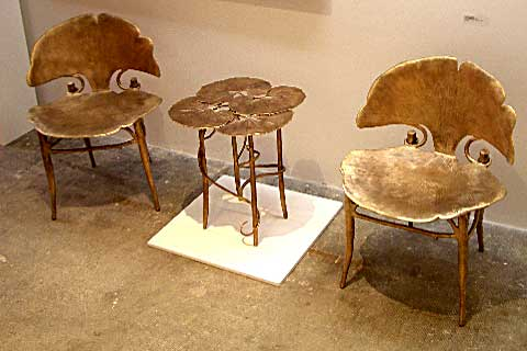 Ginkgo Chairs and Table by Claude Lalanne