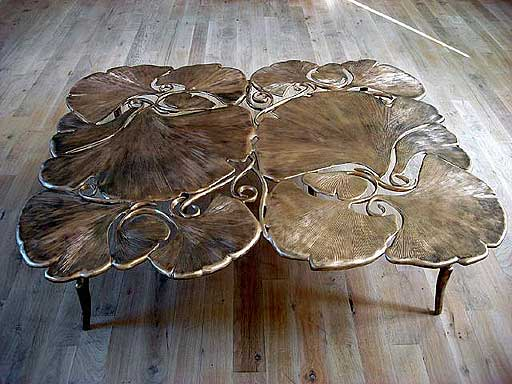 Ginkgo Table basse carrée by Claude Lalanne