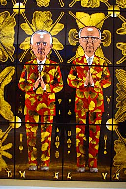 Gilbert & George Ginkgo Pictures (photo Cor Kwant)