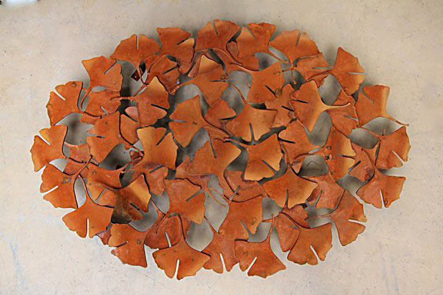 Ginkgo wall piece by Rudi Jass (photo Rudi Jass)