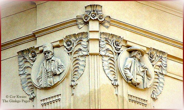 Prague, Obecni Dum detail facade (photo Cor Kwant)