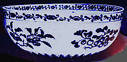 Chinese bowl  with Ginkgo leaves and seeds, 15th century